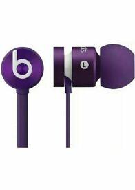 New Genuine Beats by Dr Dre iBeats urBeats Earphones In-Ear Headphones Purple