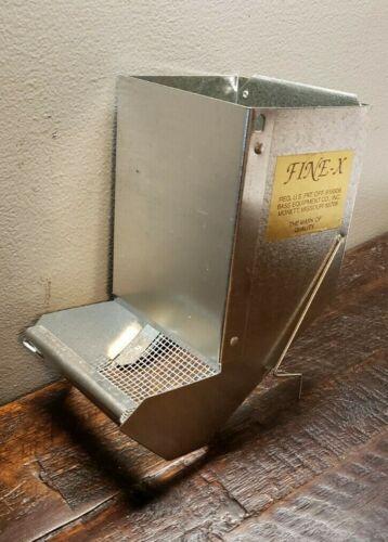 "USA Galvanized FINE-X Rabbit Feeder. Self Cleaning.  3 3/4"" Wide Opening"
