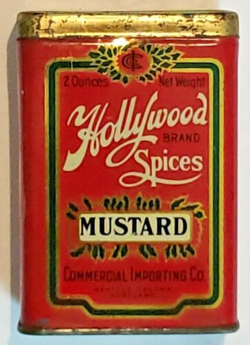 Vintage Hollywood Spices Ginger Tin