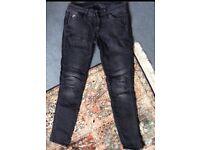 G-Star Black Skinny Stretch Biker Jeans, W 27