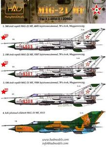Hungarian-Aero-Decals-1-48-MIKOYAN-MiG-21-MF-Fighter-Hungarian-Air-Force