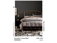 Next copper double bed frame