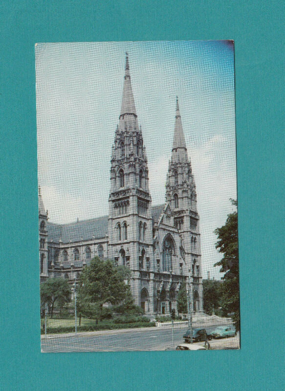 Pittsburgh PA Penn.  St Pauls Cathedral Church Postcard Chrome Unposted Printed