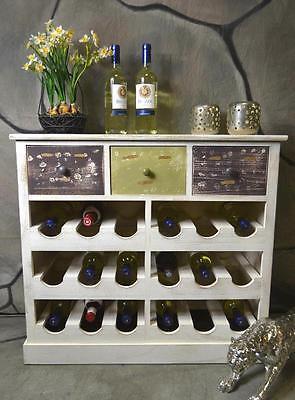 Weinregal Weinschrank Flaschenregal Holz Landhaus Shabby Chic Vintage LV1080