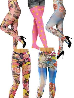 ümpfe Socken Leggings Hippie Pease Blumen Hippy Kleid Kostüm (Leggings Kostüm)