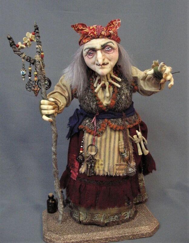 """Cloth Art Doll Pattern """"Baba Yaga"""" By Arley Berryhill"""