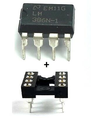 5pcs National Semiconductor Lm386n-1 Socket - Low Power Audio Amplifier Ic