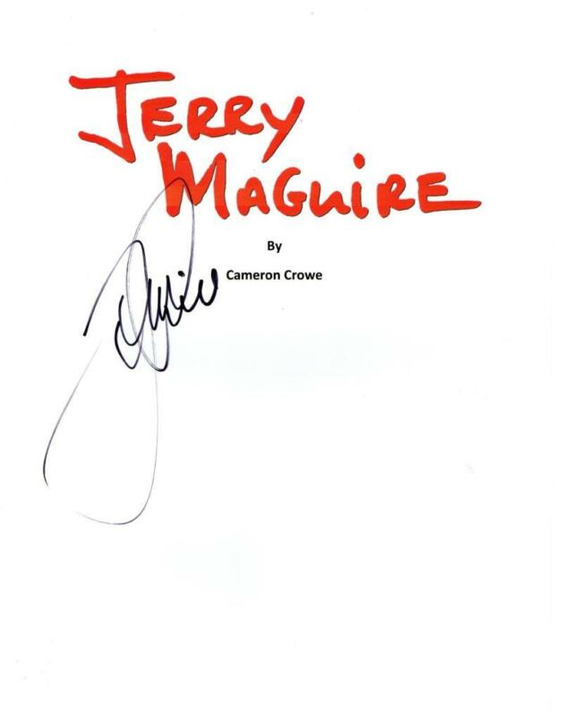 TOM CRUISE SIGNED JERRY MAGUIRE FULL SCRIPT AUTHENTIC AUTOGRAPH COA
