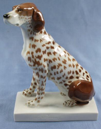 Pointer hund Volkstedt porcelain schwarzburger Döring figurine dog