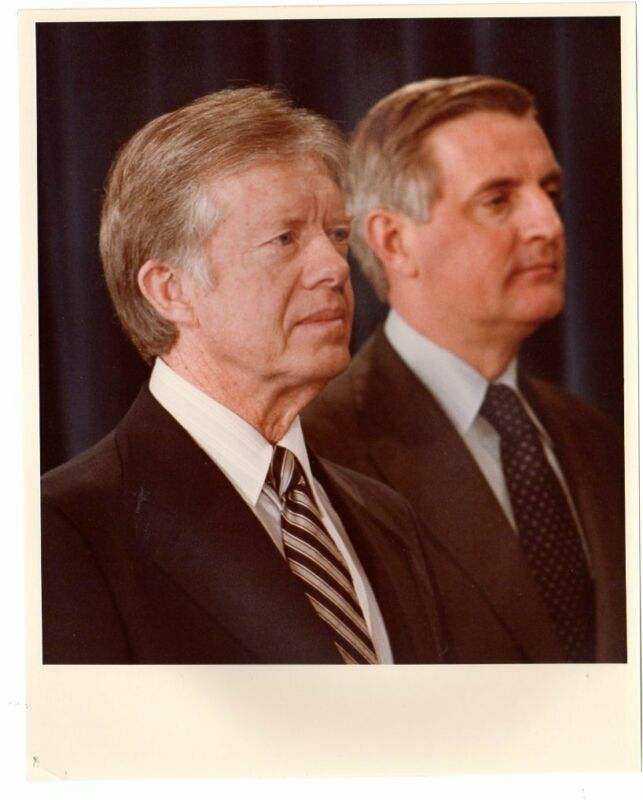 1979 White House Official Photo Jimmy Carter and Walter Mondale