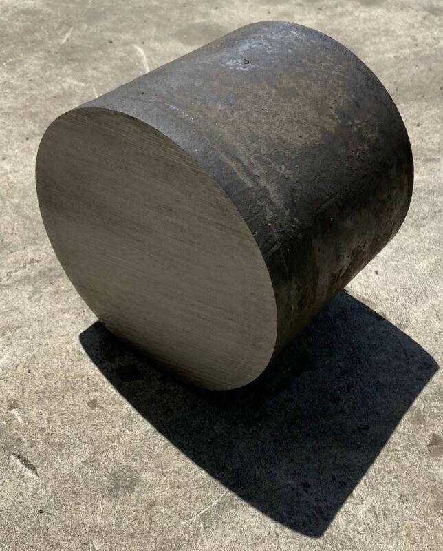 "5 3/8"" Diameter 4140 Heat Treated Steel Round Bar Stock - 5.375"" x 4.25"" Length"
