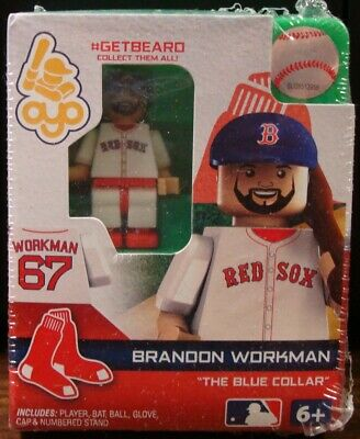 BRANDON WORKMAN #67 BOSTON RED SOX THE BLUE COLLAR #GETBEARD OYO MINIFIGURE