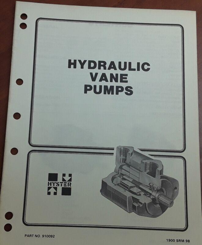 Hyster Hydraulic Vane Pumps 910092 1900 SRM 98