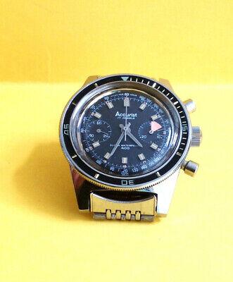 Vintage Mens Accurist 400 Divers Chronograph Watch