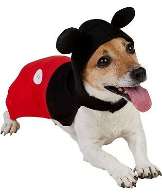 Pet Dog Cat DISNEY Mickey Mouse Halloween Christmas Fancy Dress Costume Outfit - Dog Mickey Mouse Costume