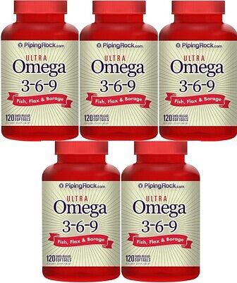 5 Multi omega 3-6-9 pescado, lino y borraja, 120 Perlas