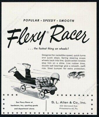 1959 Flexy Racer illustrated vintage print ad