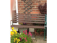 One cast-iron bench