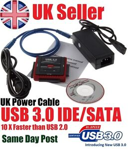 New USB 2.0/3.0 to HDD SATA/IDE Adapter Cable Converter OTB High Speed Transfer
