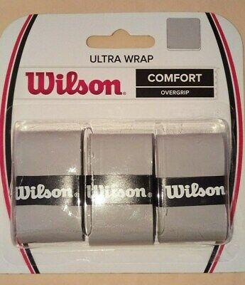 Wilson Ultra Wrap Gray Comfort Over-grip Tennis Racket Sporting WRZ471718 3 pack