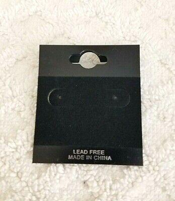 100pcs 2 X 1.7 Black Velvet Plastic Earring Ear Studs Holder Display Hang Cards