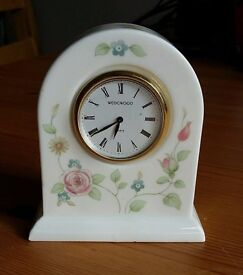 Wedgwood Bone China Quarts Clock - Made In England 1991