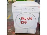 Beko 8kg condenser dryer free delivery in derby