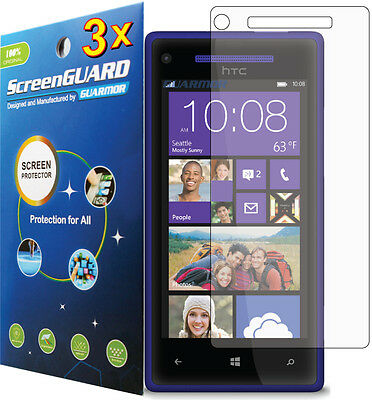 Used, 3x HTC Windows Phone 8X 6990 PM23300 Clear LCD Screen Protector Guard Cover Film for sale  Shipping to India