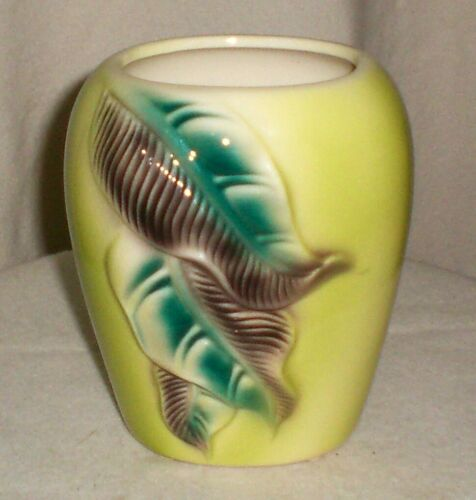 Vintage Royal Copley Pottery Fern Leaf Vase