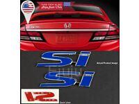 "4.3/"" x 1/"" Black SI Emblem Decal Sticker Badge For Civic Trunk Fender Lip 2"