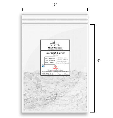 Calcium Chloride Cacl2 2h2o Flakes 99 Pure Min. 1 Pound
