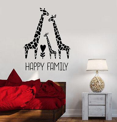 Vinyl Decal Giraffe Family Nursery Children's Room Decor Wall Stickers (ig3532) (Giraffe Nursery Decor)