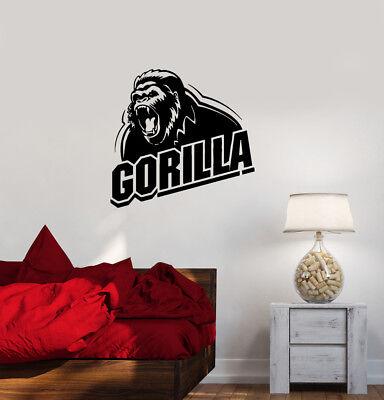 Wall Decal Animal Gorilla Roar Word Monkey Predator Vinyl Sticker - Gorilla Roar