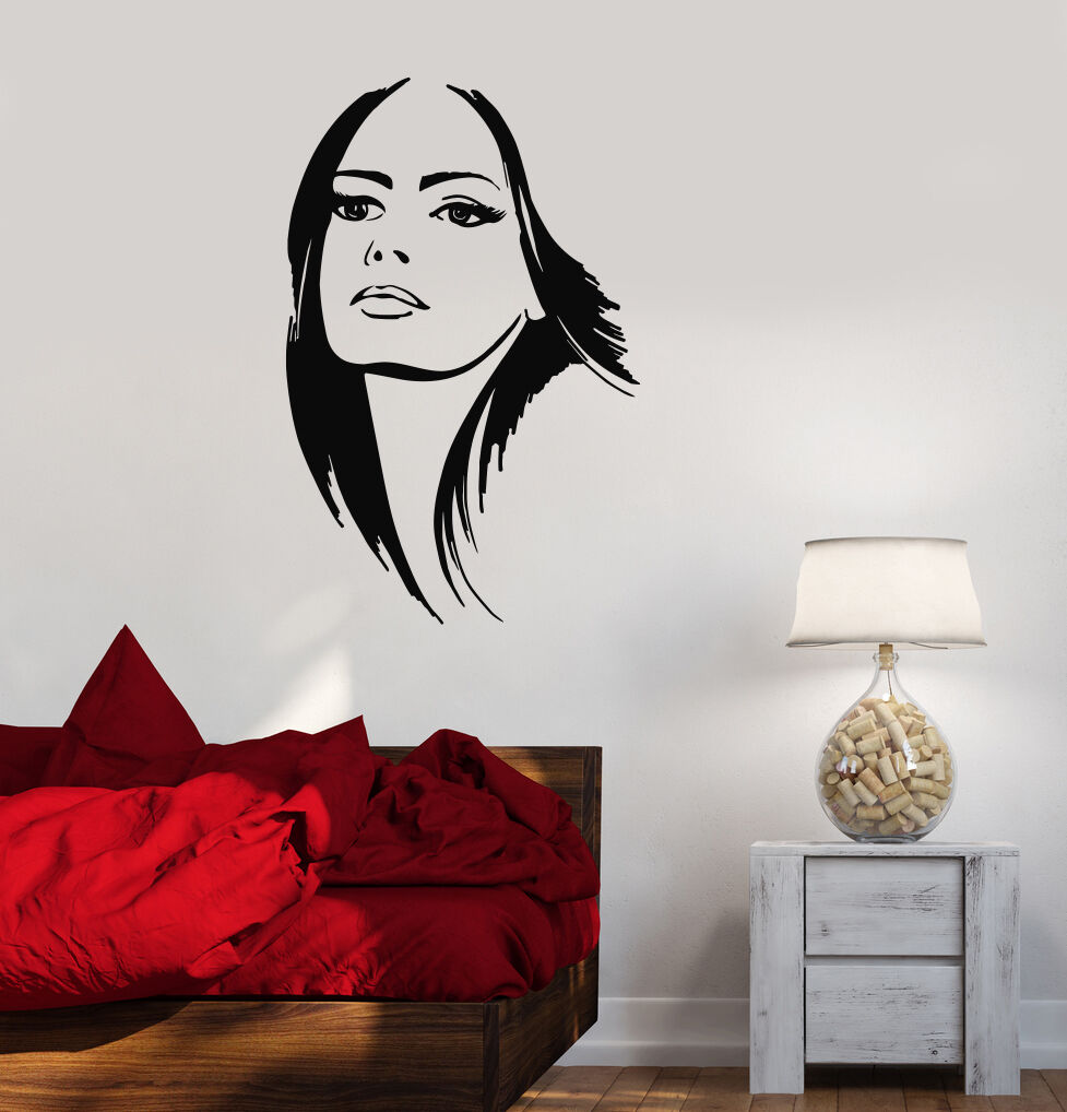Wall decals stickers home decor home furniture diy vinyl decal beautiful woman beauty salon hair stylist wall stickers ig2133 amipublicfo Images