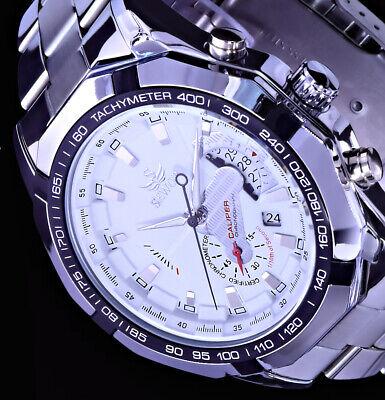 Mechanische Automatik Uhr Herren Armband Uhr Weiß Silber Farben Edelstahl