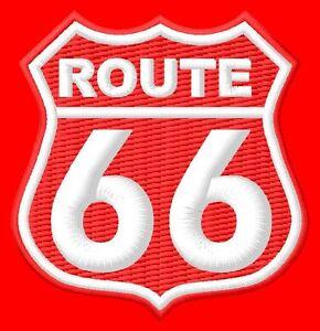 Route 66 Parche bordado Thermo-Adhesiv iron-on patch - <span itemprop='availableAtOrFrom'>Poznan, Polska</span> - Zwroty są przyjmowane - Poznan, Polska