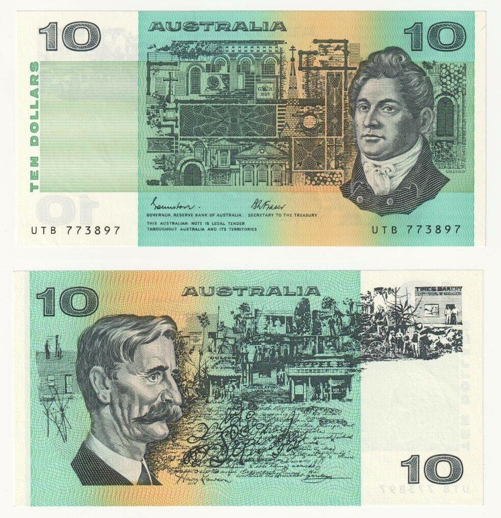 $10 EA17 /& DK17 Last /& Gen Consecutive Prefix Matching Serial x 2 UNC Banknotes