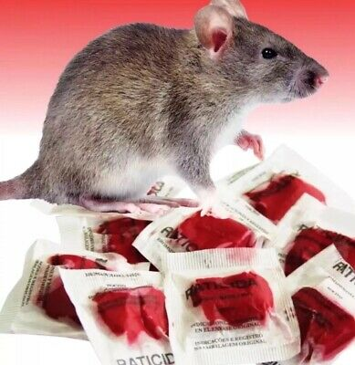 Lot 10 Red Packs This Stuff Really Works Rat Rodent Mouse Poison #1 Best