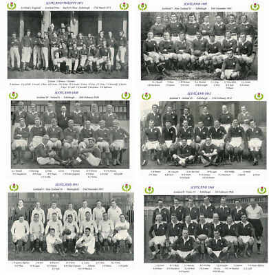 """50 SCOTTISH RUGBY TEAMS 1871 - 1973 PHOTOGRAPH BUNDLE 6"""" X 4"""" (15 x 10cm)"""