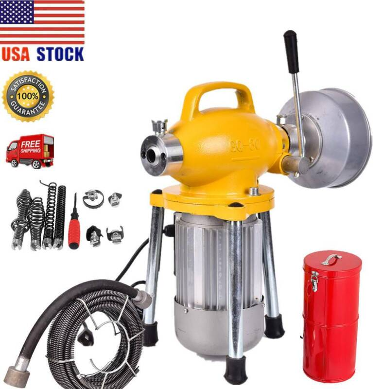 """3/4""""-5"""" Drain Cleaner 500W Sectionals Sewer Snake Drains Aug"""
