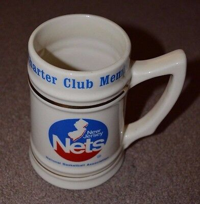 Vtg New Jersey Nets Charter Club Member Stein 1979 Retro Mug Brooklyn Princeton