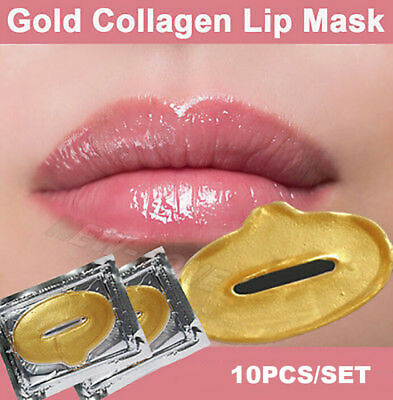 10 Collagen LIP Masks Crystal 24k GOLD Premium Eye Skin Anti Ageing Wrinkle