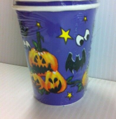 16 Screaming Halloween Party Disposable 9oz Paper Cups (Halloween Party Cups)
