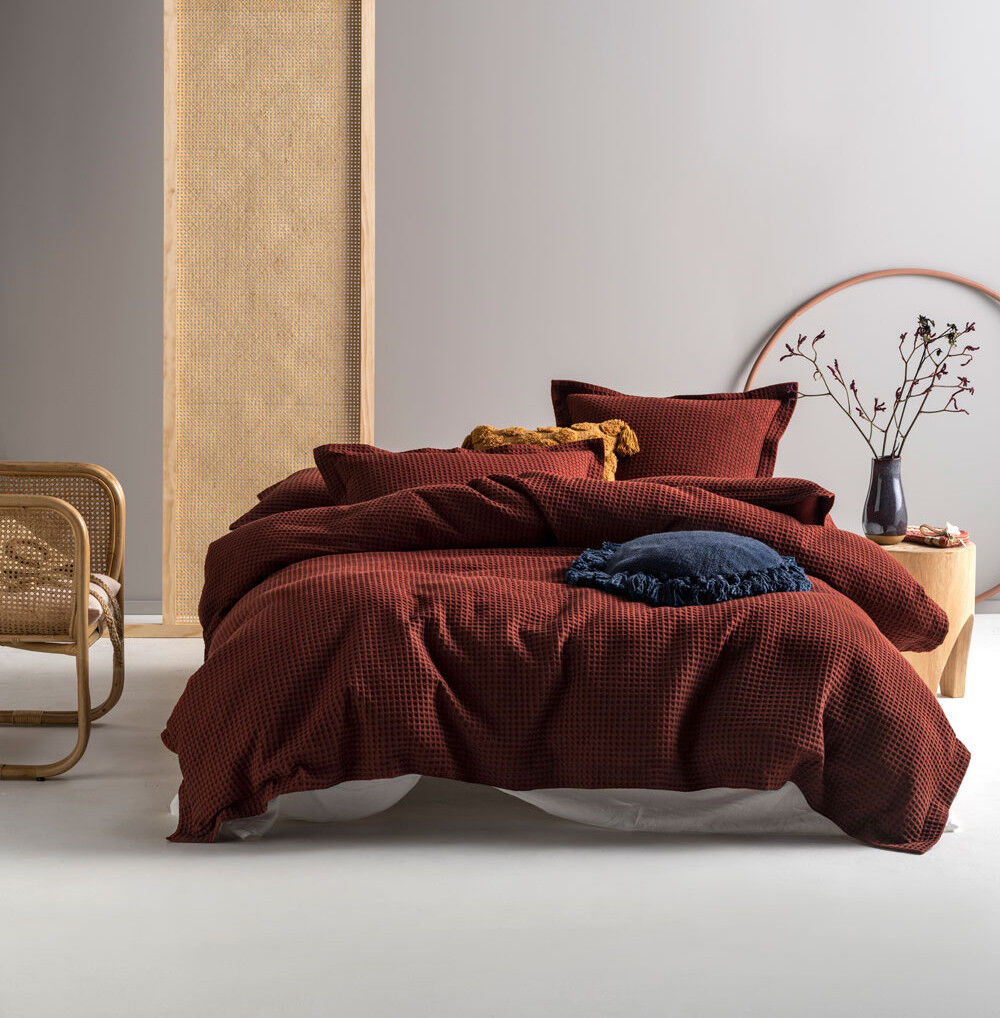 Linen House Deluxe Waffle Brick Single Double Queen King Sup