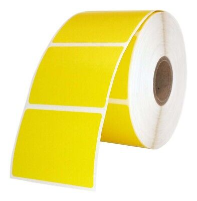 Zebra 2x1.5 2 X 1-12 Yellow Direct Thermal Labels - One 1 Roll Of 1000