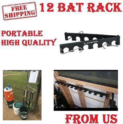 12 Baseball Bat Holder Bracket Fence Wall Rack Vertical Display Organizer New (Fence Bat Rack)