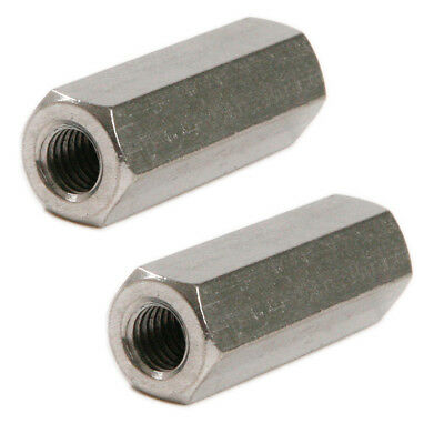 2Pcs M6 M8 Hex/Round Long Rod Coupling Hex Nut Connector Stainless Steel