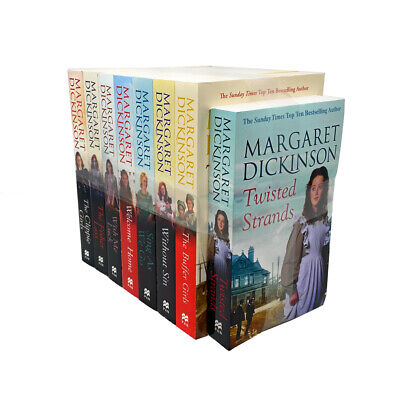 Margaret Dickinson 8 Books Collection Set Pack, Wish Me Luck, The Buffer Girls