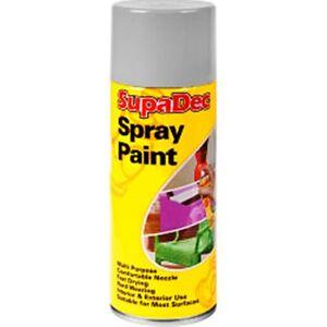 Supadec Spray Aerosol Paint 400ml White Matt Interior Ext
