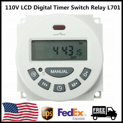 L701 Ac 110v Digital Lcd Power Programmable Timer Time Switch Relay